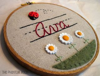 Custom Name Embroidery Hoop Art_3