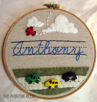 Custom Name Embroidery Hoop Art_1