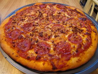 Pepperoni and Bacon Pizza