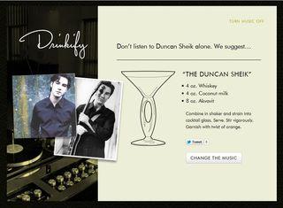Duncan sheik drinkify