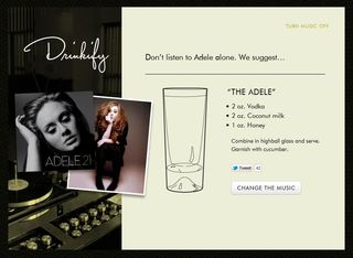 Adele drinkify