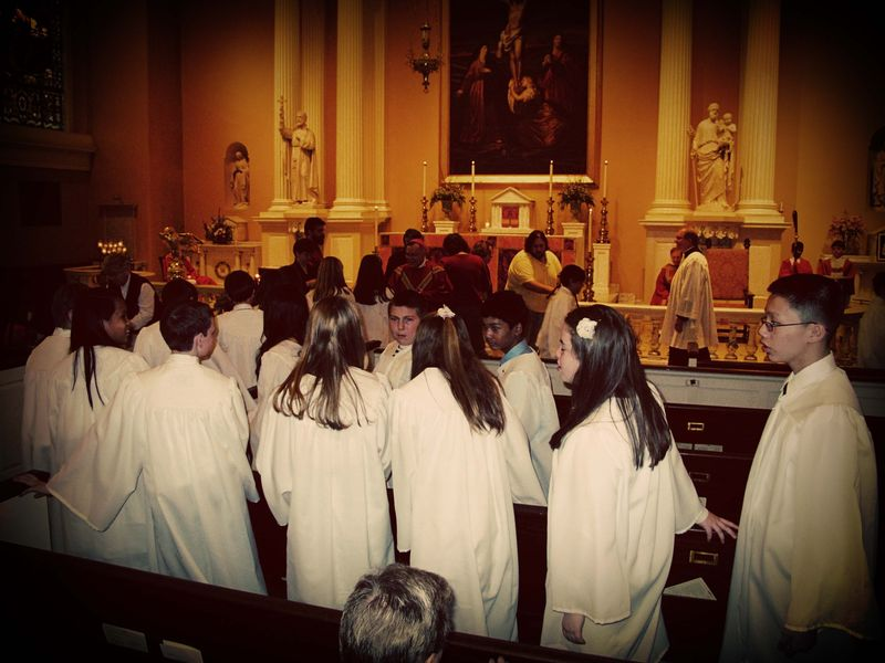 Confirmation Taping at St Joes