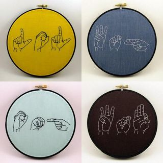 Custom Sign Language Hoop Sampler