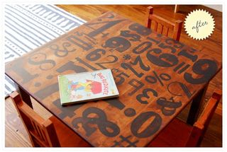 Letter press table